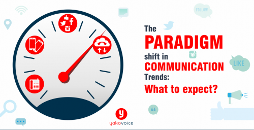 The paradigm shift in communication trends